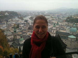 View from the fortress on Salzburg